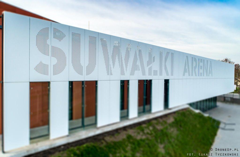 Suwałki Arena - napis, logo