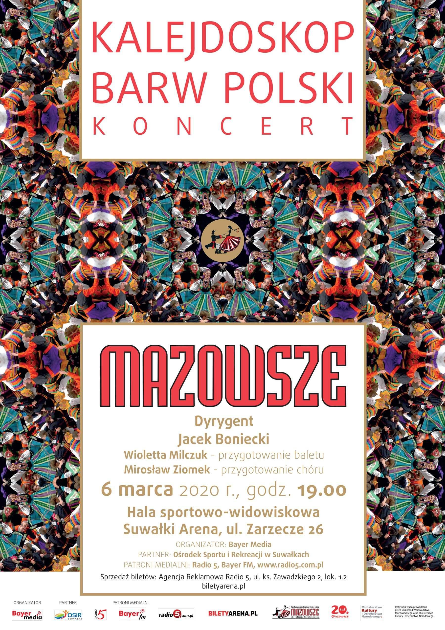 Koncert zespołu Mazowsze w Suwałkach