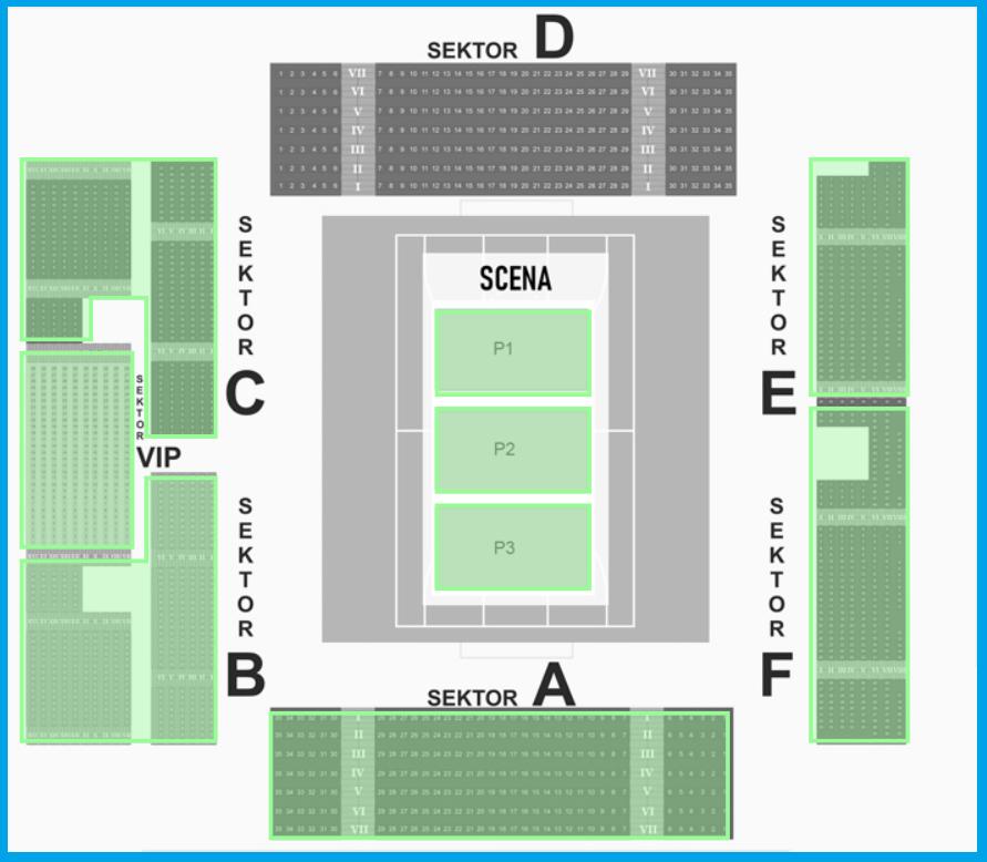 Suwałki Arena - sektory